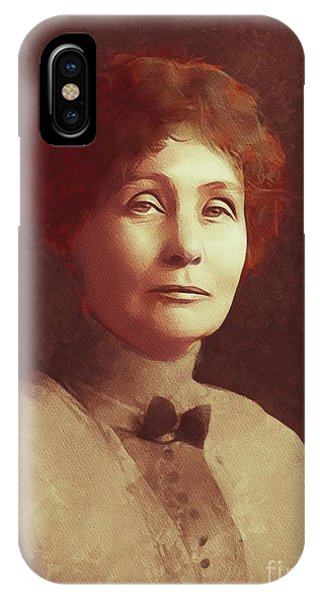 Equal Rights iPhone Case - Emmeline Pankhurst, Suffragette by Mary Bassett