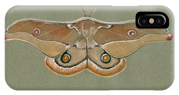 Moth iPhone Case - Emperor Gum Moth by Juan Bosco