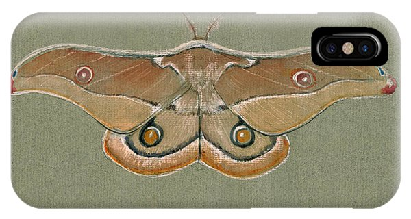 Hawk iPhone Case - Emperor Gum Moth by Juan Bosco