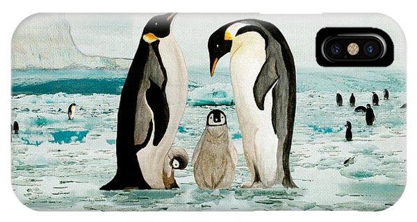 Emperor Penguin Family IPhone Case