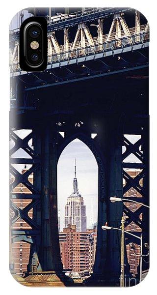 Bridge iPhone Case - Empire Framed by Joan McCool