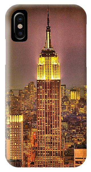 IPhone Case featuring the photograph Empire Light by Chris Lord
