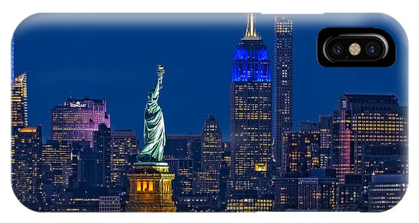 Empire State And Statue Of Liberty II IPhone Case