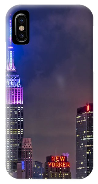 Empire State Building Esb At Night IPhone Case
