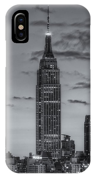 United States iPhone Case - Empire State Building Morning Twilight Iv by Clarence Holmes