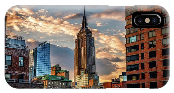Empire State Building Sunset Rooftop IPhone Case