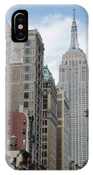 IPhone Case featuring the photograph Empire State Building by Wilko Van de Kamp