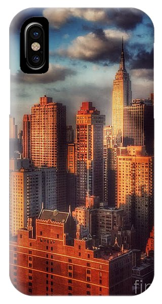 Empire State In Gold IPhone Case