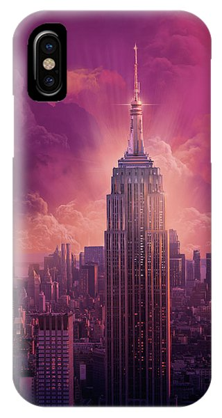 Empire State Building Sunset IPhone Case