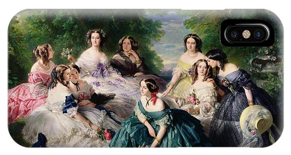 Empress Eugenie Surrounded By Her Ladies In Waiting IPhone Case
