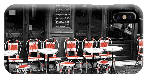 Empty Montmartre Cafe Fusion IPhone Case