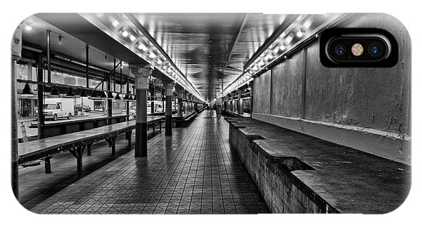 Empty Pike Place Market In Seattle IPhone Case