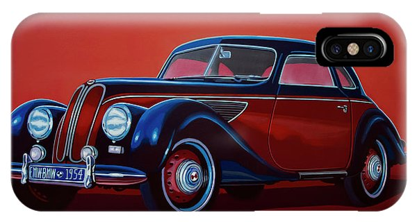 Oldtimer iPhone Case - Emw Bmw 1951 Painting by Paul Meijering
