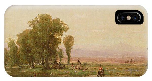 Encampment On The Platte River IPhone Case