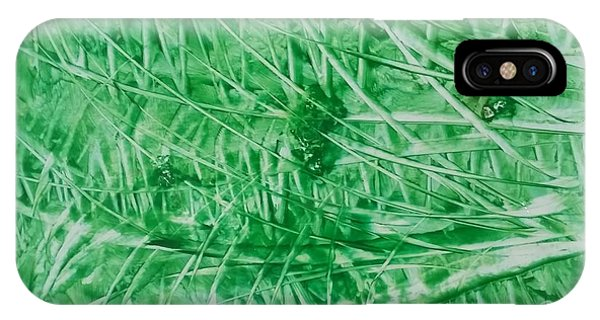 Encaustic Abstract Green Foliage IPhone Case