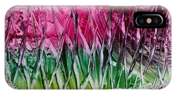 Encaustic Abstract Pinks Greens IPhone Case