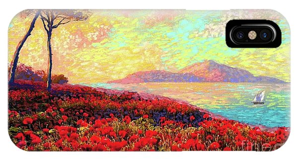 Colourful iPhone Case - Enchanted By Poppies by Jane Small