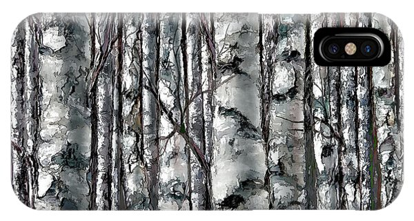 Enchanted Forest -black And White IPhone Case