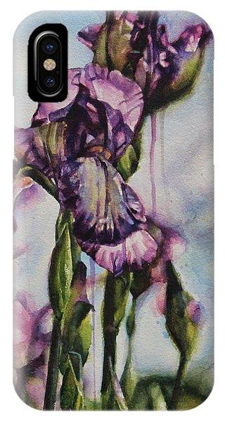 Enchanted Iris Garden IPhone Case