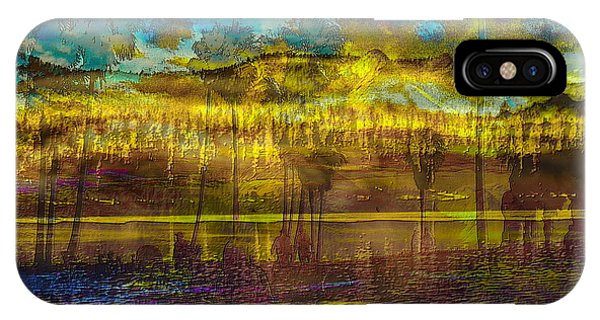 IPhone Case featuring the digital art Enchanted Land by Visual Artist Frank Bonilla