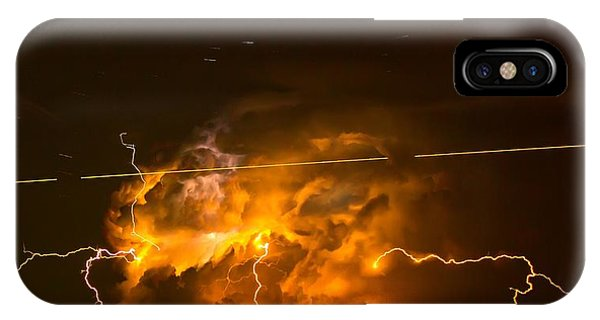 Enchanted Rock Lightning IPhone Case
