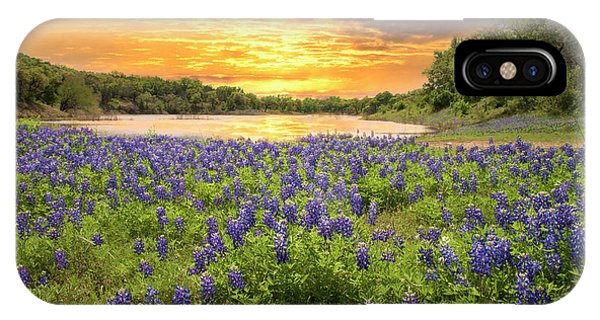 End Of A Bluebonnet Day IPhone Case