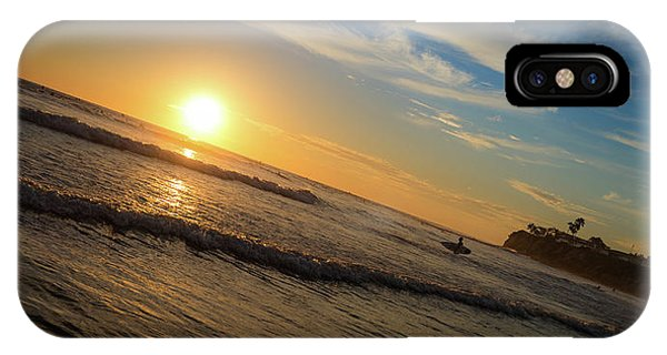 IPhone Case featuring the photograph End Of Summer Sunset Surf by T Brian Jones