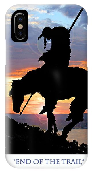 End Of The Trail Sculpture In A Sunset IPhone Case