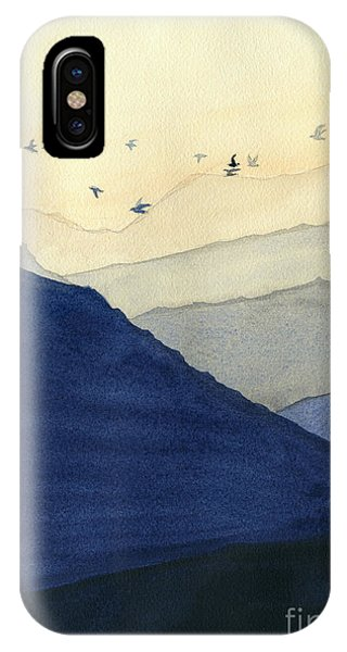Endless iPhone Case - Endless Mountains Left Panel by Melly Terpening