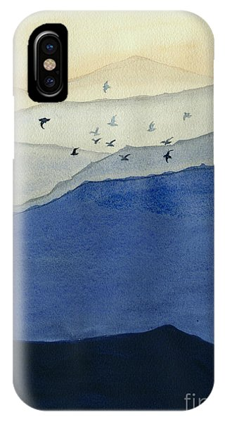 Endless iPhone Case - Endless Mountains Right Panel by Melly Terpening