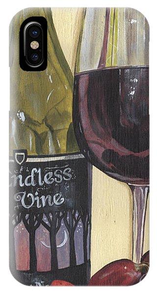 Glass iPhone Case - Endless Vine Panel by Debbie DeWitt