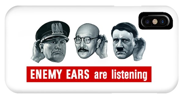 World War Two iPhone Case - Enemy Ears Are Listening by War Is Hell Store