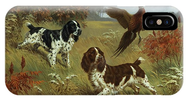 Energetic English Springer Spaniels IPhone Case