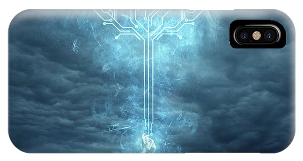 Dark Clouds iPhone Case - Energy by Zoltan Toth