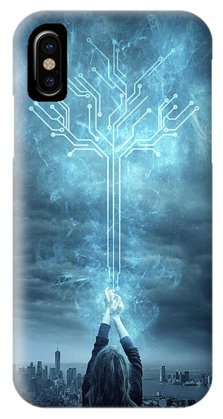 Fractal iPhone Case - Energy by Zoltan Toth