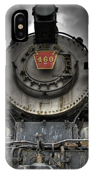 Train iPhone X Case - Engine 460 Front And Center by Scott Wyatt