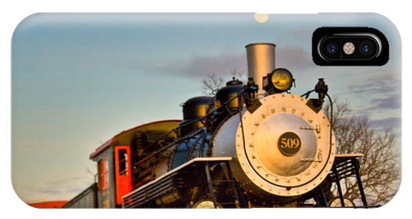 Crossville iPhone X Case - Engine 509 At Crossville Tennessee Puffing by Douglas Barnett
