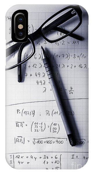 Calculus iPhone Case - Engineering Student Calculations by Jorgo Photography - Wall Art Gallery