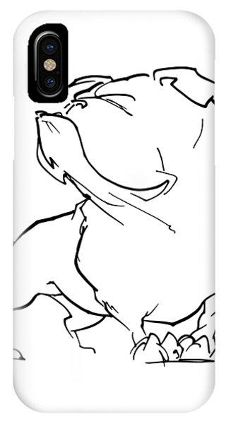 English Bulldog Gesture Sketch IPhone Case
