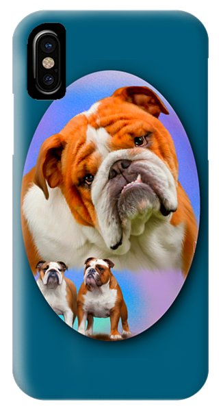 English Bulldog- No Border IPhone Case