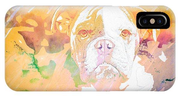 English Bulldog Wc IPhone Case
