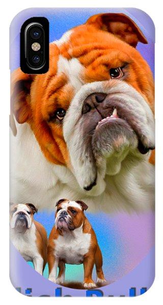 English Bulldog With Border IPhone Case