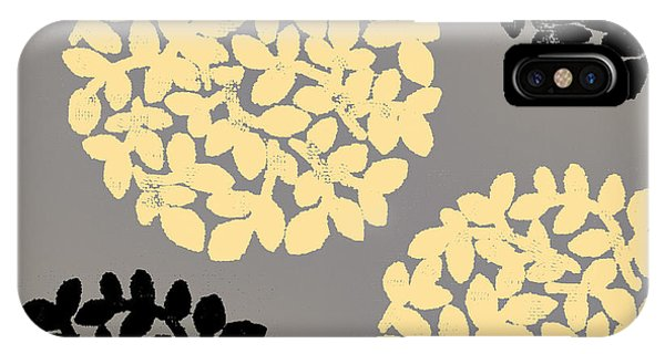 Yellow Flowers iPhone Case - English Garden Retro Flower Pattern by Mindy Sommers