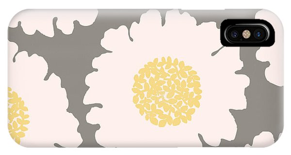 Yellow Flowers iPhone Case - English Garden White Flower Pattern by Mindy Sommers