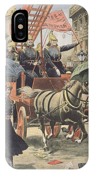 Equal Rights iPhone Case - English Suffragettes Dressed As Firemen by French School
