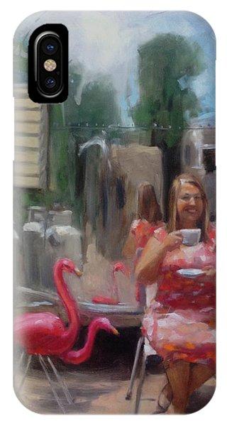 English Tea Time In Taos IPhone Case