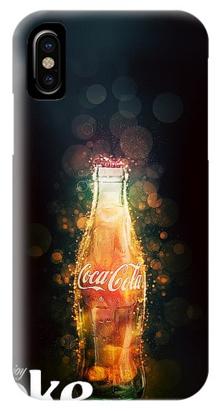 Enjoy Coca-cola With Bubbles IPhone Case