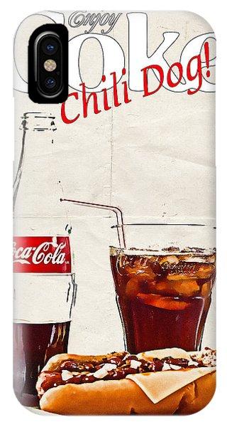 Enjoy Coca-cola With Chili Dog IPhone Case