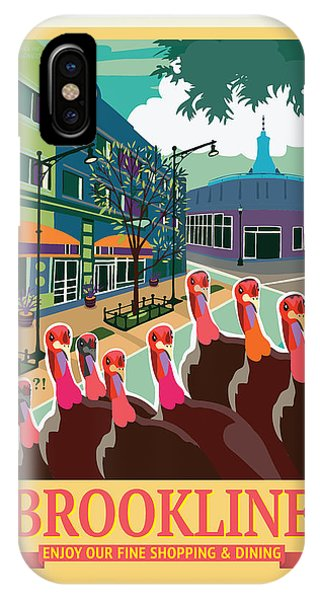 Turkey iPhone Case - Enjoy Our Shopping by Caroline Barnes