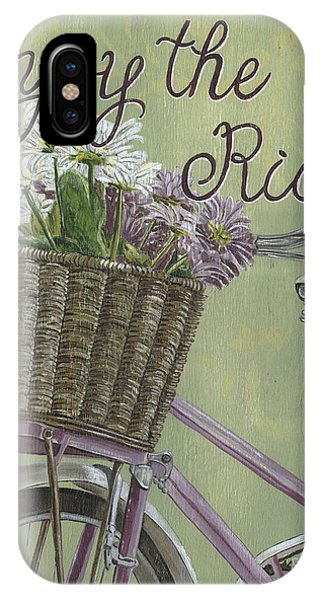 Basket iPhone Case - Enjoy The Ride by Debbie DeWitt